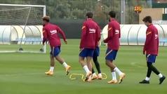 El Barça prepara ya el partido de Liga de este sábado ante el Betis previo al parón de selecciones