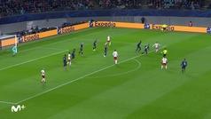 Gol de Sabitzer (1-0) en el RB Leipzig 3-0 Tottenham
