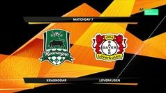 Europa League (1/16, ida): Resumen del Krasnodar 0-0 Leverkusen
