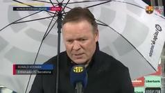 """Koeman: """"Es increíble que no haya pitado penalti"""""""