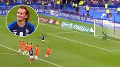 Ya hasta se ríe: Griezmann vuelve a fallar un penalti con Francia