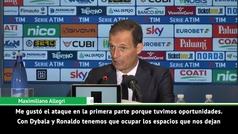 """Allegri: """"El equipo necesita tiempo para entenderse con Cristiano"""""""