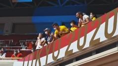 A falta de público... la afición más caliente y ruidosa de los Juegos de Tokio