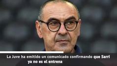 Sarri, destituido como entrenador de la Juventus