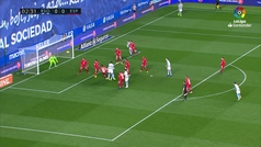Gol de Mikel Merino (1-0) en el Real Sociedad 3-2 Espanyol