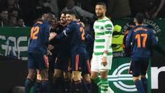 Europa League (1/16, ida): Resumen y goles del Celtic 0-2 Valencia
