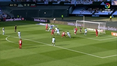 Gol de Mario Hermoso (0-1) en el Celta 1-1 Espanyol