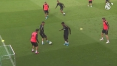 Kroos se ejercitó con normalidad y viajará a Estambul con el Madrid