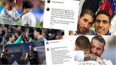 Los compañeros se vuelcan con Ramos en las redes sociales