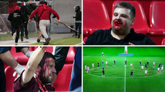 Radicales del Olympiacos apalean a hinchas del Bayern... y en el campo responden con un rondo