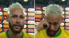 """Neymar llora frente las cámaras tras salirse ante Perú: """"He pasado dos años muy difíciles"""""""