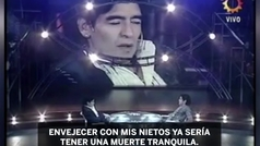 """Maradona contó cómo quería que fuera su entierro: """"Gracias a la pelota"""""""