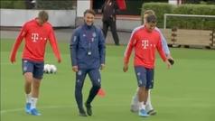 Primer entrenamiento de Coutinho con el Bayern