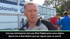 """Scholes, sobre Pogba: """"Quería irse al Madrid, pero su rendimiento en el United..."""""""