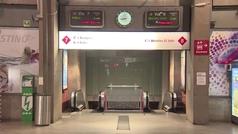 La estación de Atocha ve reducida su afluencia de viajeros por el confinamiento