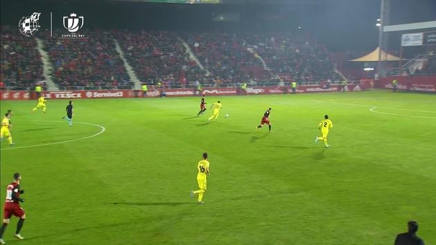 Gol de Antonio Sánchez (4-2) en el Mirandés 4-2 Villarreal