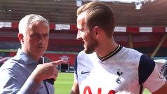 Mourinho interrumpe una entrevista de Kane para mandar un mensaje mirando a cámara