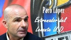"""Paco López:""""Creo mucho en detectar las emociones de los futbolistas"""""""