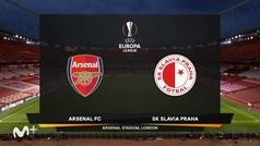 Uefa Europa League (ida cuartos de final): Resumen y goles del Arsenal 1-1 Slavia Praga