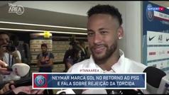 """Neymar se tomó con humor los pitidos: """"Las mismas bocas que te silban cantan tu gol"""""""