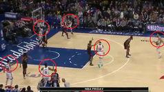 Los 76ers lo intentan todo para ganar: ¡Hasta jugar con seis jugadores!