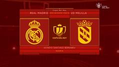 MX: Copa del Rey (1/16, vuelta): Resumen y goles del Real Madrid 6-1 Melilla