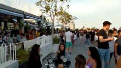 Impactante video de la Marina de Valencia abarrotada