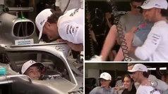 Cristiano Júnior alucina a bordo del Mercedes de Hamilton en Mónaco