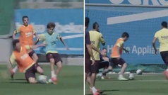 Messi ya maravilla en Can Barça: robo, jugadón y golazo