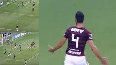 Pim, pam, pum: el genial saque de banda que termina en gol de Pablo Marí para el Flamengo