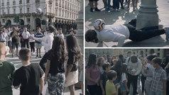 El 'fake' del año: un 'freestyler' enloquece a Turín disfrazado de Cristiano... ¡disfrazado!