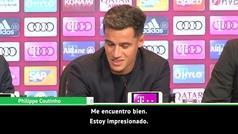 """Coutinho en su presentación con el Bayern: """"Estoy muy feliz de estar aquí"""""""