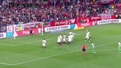 Gol de Oro (J32). Gol de Tello (3-2) en el Sevilla 3-2 Betis