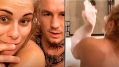 Paige VanZant responde a sus seguidores mientras se baña desnuda con su marido