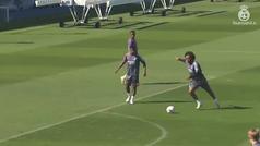 Marcelo se entrena con el grupo y podría jugar ante el Valladolid