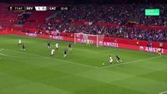 Gol de Sarabia (2-0) en el Sevilla 2-0 Lazio
