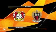 Europa League (J1): Resumen y goles del Leverkusen 6-2 Niza