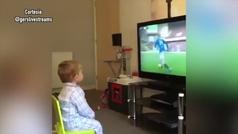 La efusiva y viral reacción de un niño al gol del Rangers