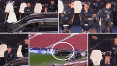 Thomas la lió en la entrega de coches del Atlético: ¡ojo a las caras de Godín, Koke, Saúl y Griezmann!