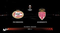 Europa League (J3): Resumen y goles del PSV 1-2 Mónaco