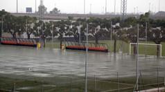 Espectacular tromba de agua en Paterna