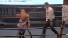 Así boxea Michele Broili, el polémico boxeador italiano que tiene tatuajes nazis
