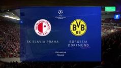 Champions League (fase de grupos): Resumen y goles del Borussia Dortmund 2-0 Slavia de Praga