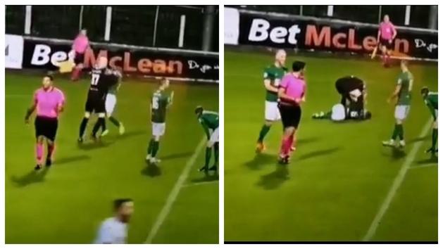 Lo nunca visto: ¡Encaja un gol y se lía a empujones y puñetazos contra su propio defensa!