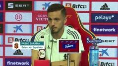 """Sarabia: """"Ramos es un referente en la selección y le deseamos lo mejor"""""""