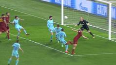 Gol de Manolas (3-0) en el Roma 3-0 Barcelona