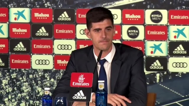 Courtois fichó con el Real Madrid por su familia