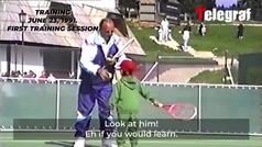 ¡Enternecedor! Así fue la primera clase de tenis de Novak Djokovic con sólo 4 años