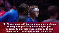 El discurso motivador de Federer a Zverez... ¡para remontar el partido!