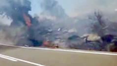 El accidente de moto que provocó el incendio de Robledo de Chavela